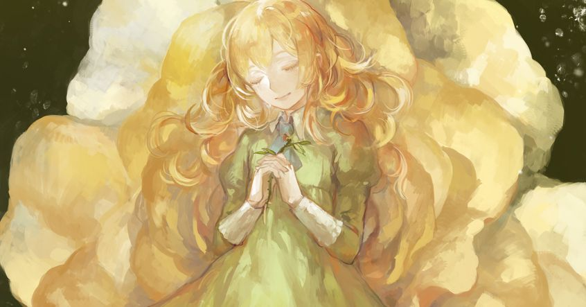 Illustrations of Girls with Fluffy Blonde Hair - Sweet and Soft♡