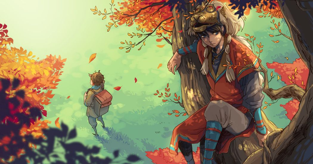 Let's rest for a moment. Illustrations of Characters Sitting on Tree Branches