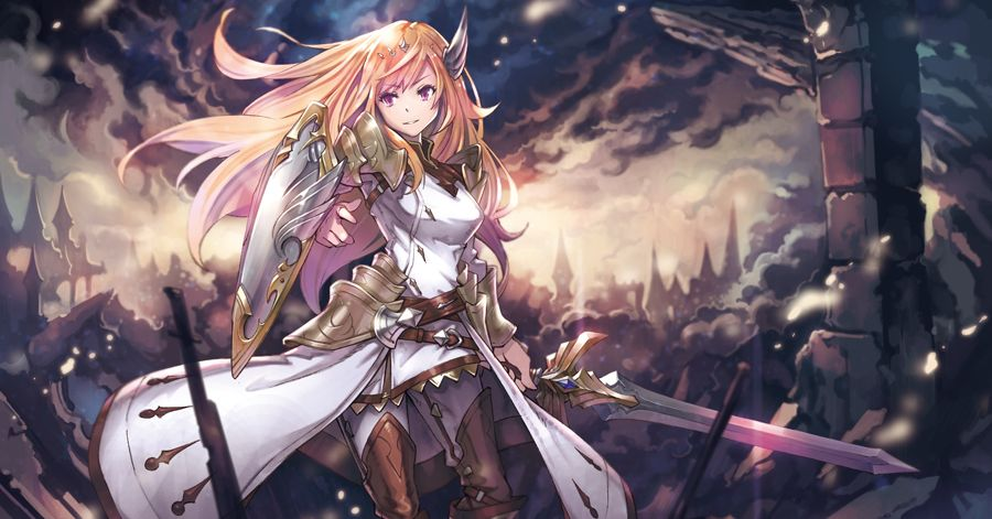 A flower on a battlefield.  Illustrations of Princess Knights