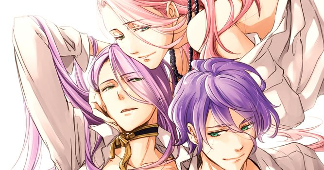Drawings of Boys with Purple Hair  - Violet Temptation♡