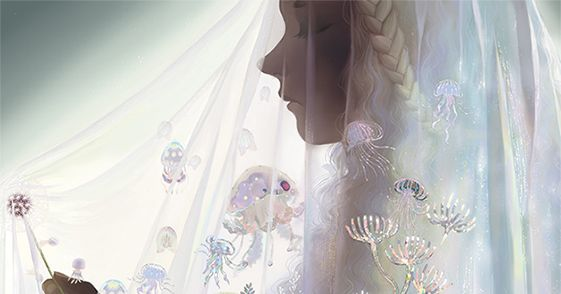 A beautiful decoration for you.  Illustrations of Veils