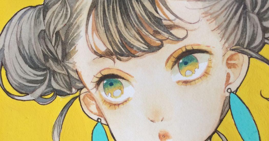Your cute hair bun♡  Illustrations of Chignon Buns