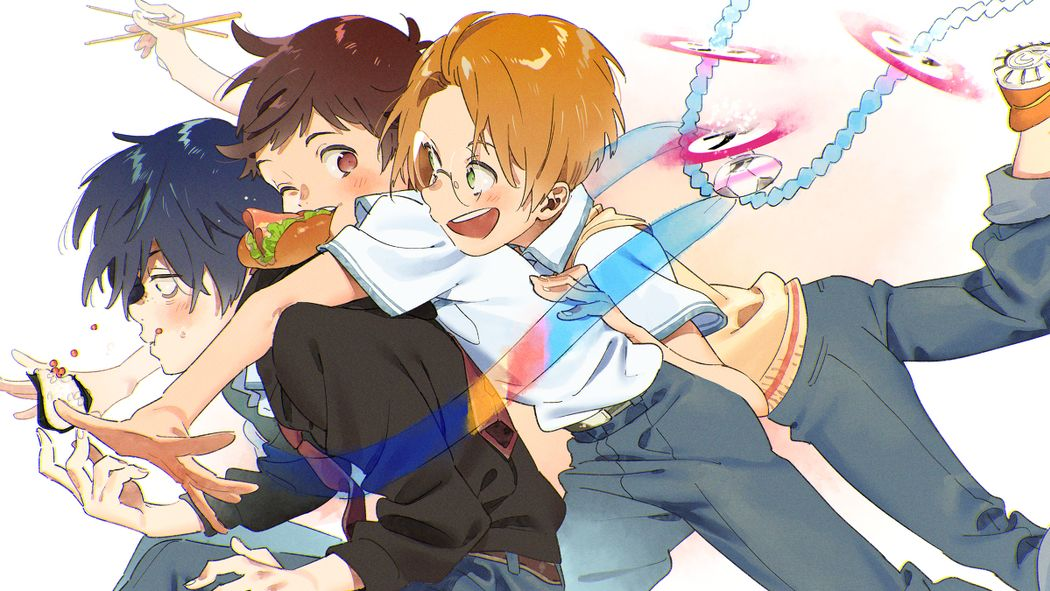 Fanworks of the Anime Series Sarazanmai - I won't let go of my connection with you.