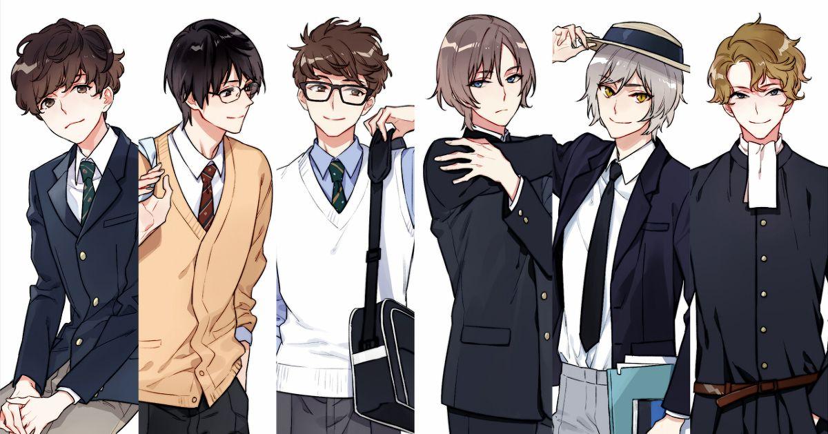 Drawings of Boys in School Uniforms - Infinite Variations!