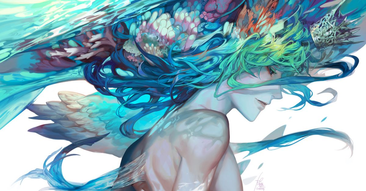 """Drawings Tagged with """"Blue Color Scheme"""" - A Dazzlingly Blue World..."""