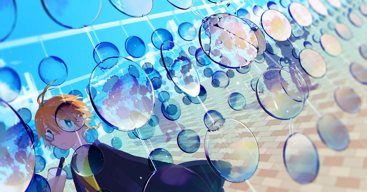 Drawings with a Sense of Translucency - A Crystal Clear World