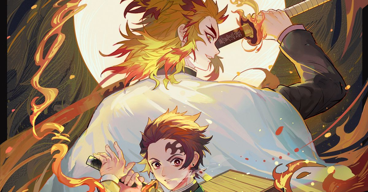 Fan Art from Demon Slayer: Kimetsu no Yaiba the Movie: Mugen Train - the Highly Anticipated Movie Hits Theaters this Week!