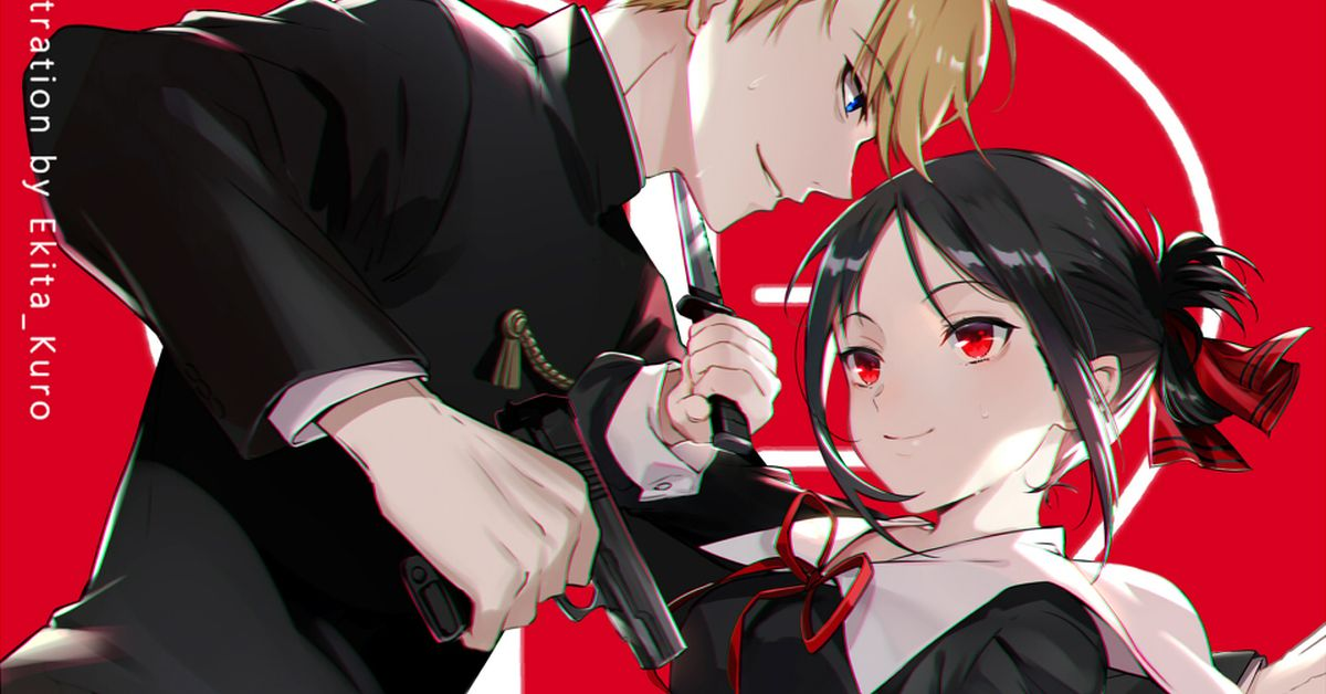 Fan-art of Kaguya-sama: Love Is War - Mind games between the geniuses.