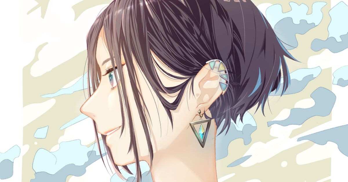 Drawings of Girls with Short Hair - Free in the Breeze