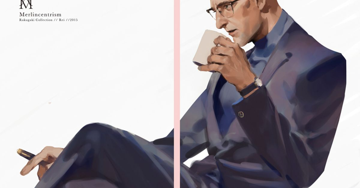 Drawings of Handsome Older Men - Blinded by the beauty of his masculinity.