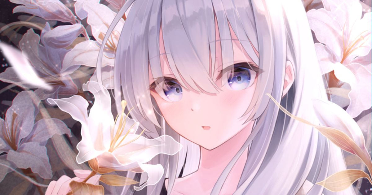 Drawings of Lilies - White Petals of Purity