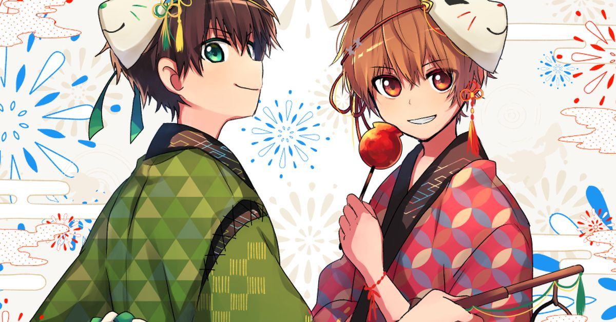 Drawings of Boys in Yukata - He Looks Nice and Cool.