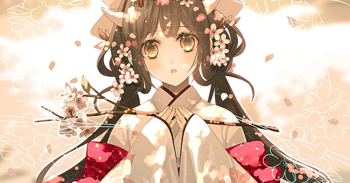 Drawings of Beautiful Japanese Girls - Elegant and Graceful♡