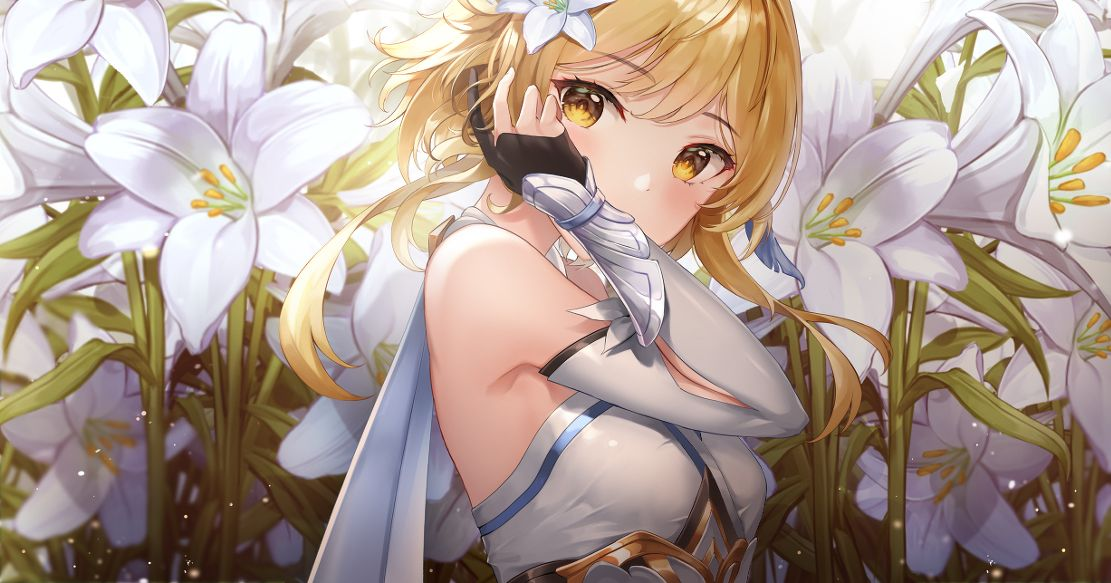 Drawings of White Lilies  - The Language of Flowers is Pure.