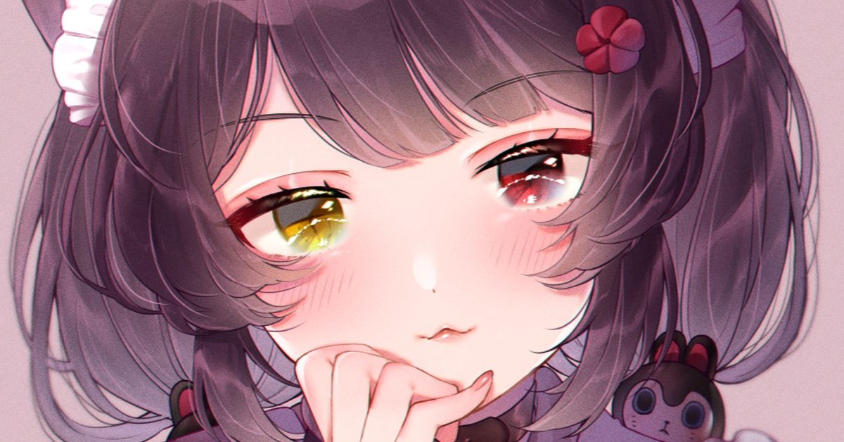 Drawings of Girls with Heterochromia  - Two Different-Colored Irises