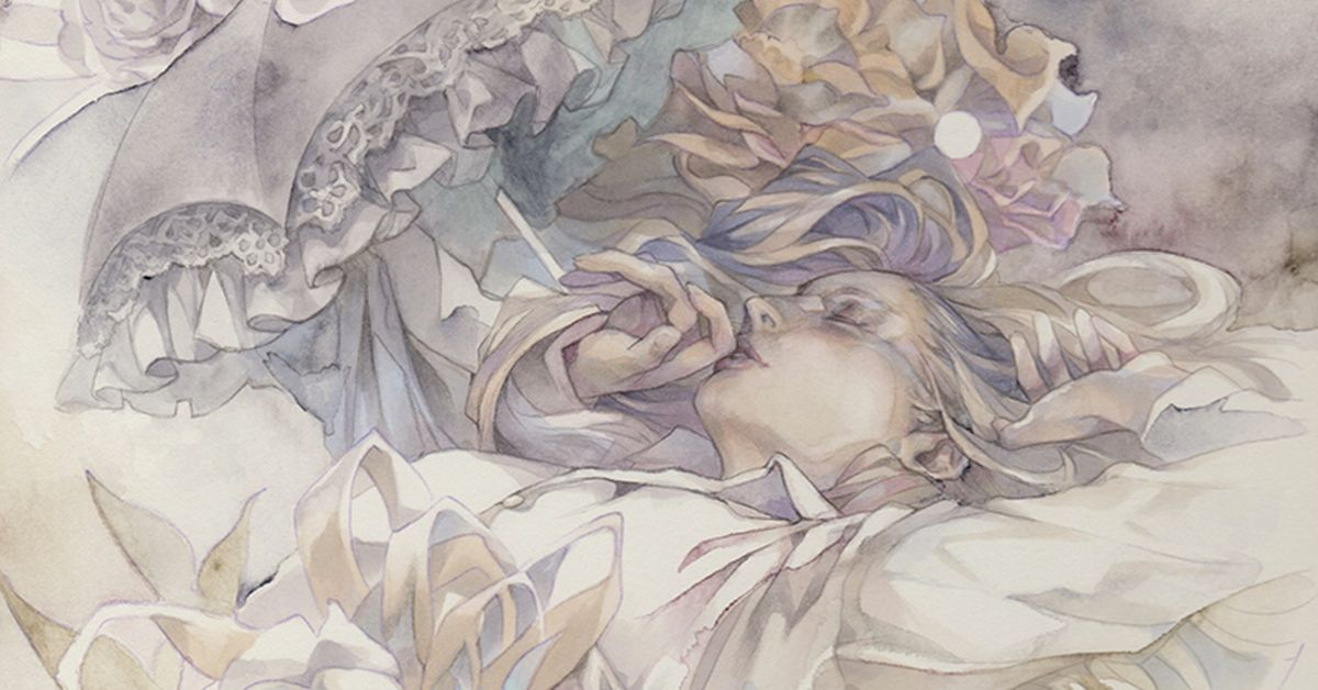 Drawings by Yue Where Fantasy Seeps Out of Color. - Divine aesthetics.