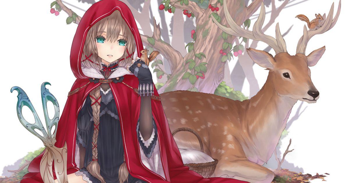 Drawings of Deer and People - Healed by your tender eyes ♡