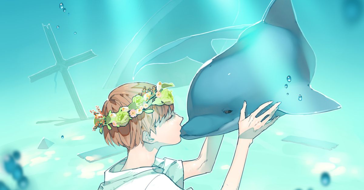 Drawings of Humans and Dolphins - Swimming with elegance!