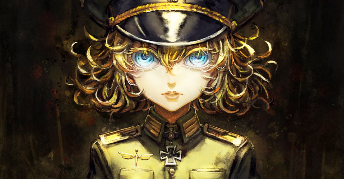 Drawings of Girls in Military Uniforms - A Flower in the Battlefield.