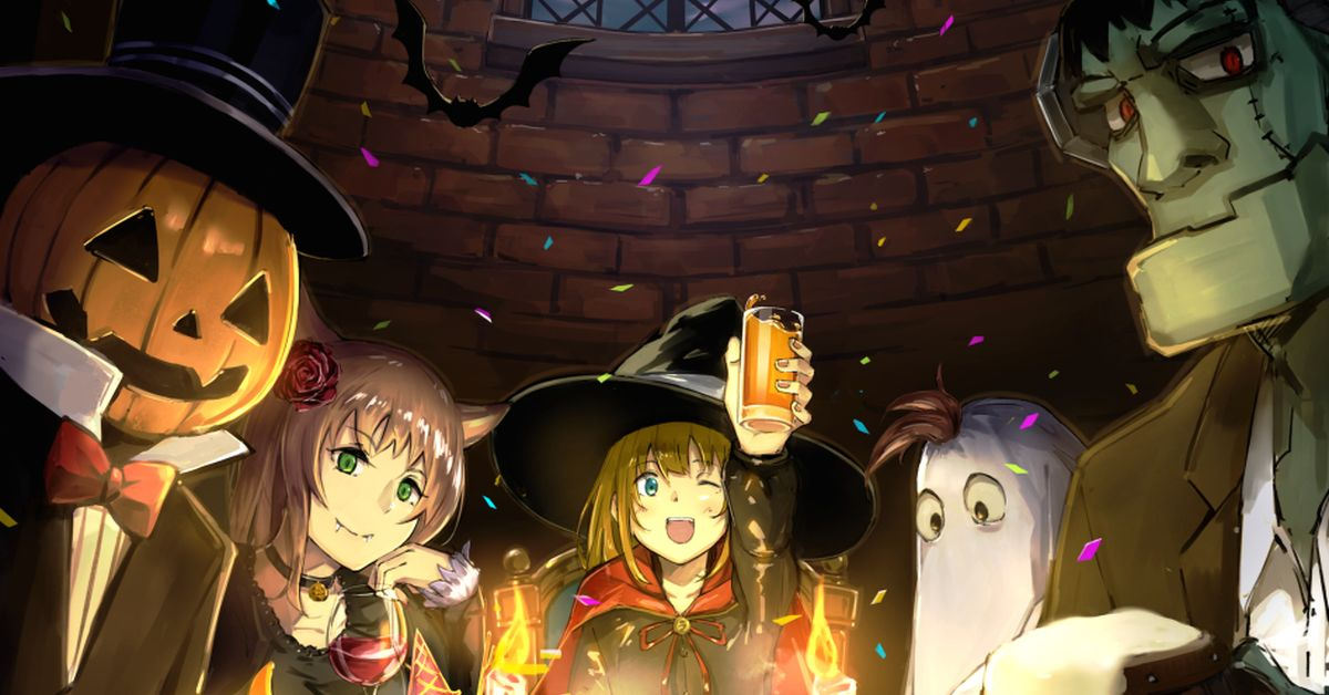 This Halloween, would you like to admire the costumes in drawings?
