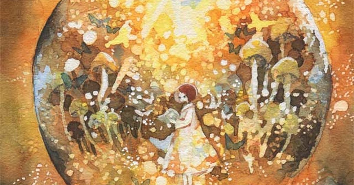 Ikeda's Warm and Transparent World of Watercolor. - These gentle colors will warm you up.