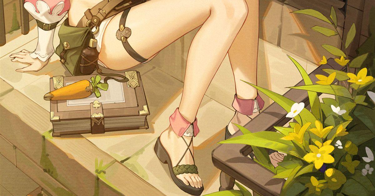Drawings of Sandals - Summer Footwear!