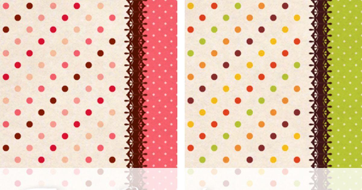 Materials: Polka dots!