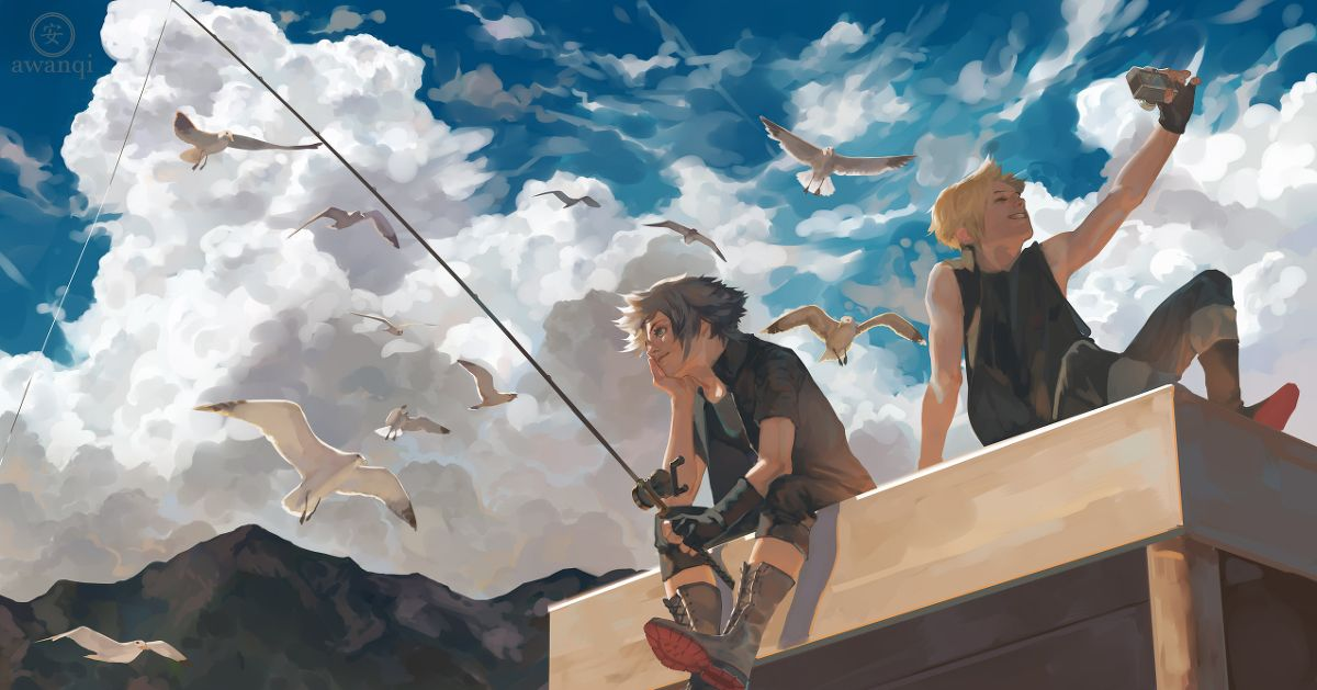Drawings that will Make you Want to go Fishing  - Aiming for Big Game!